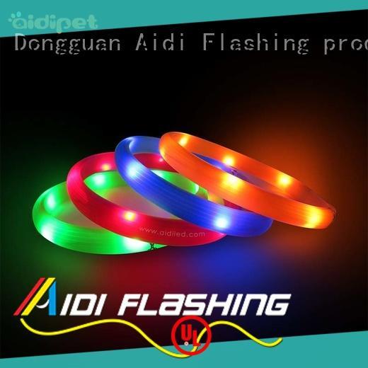 AIDI printing waterproof flashing dog collar with good price for pet