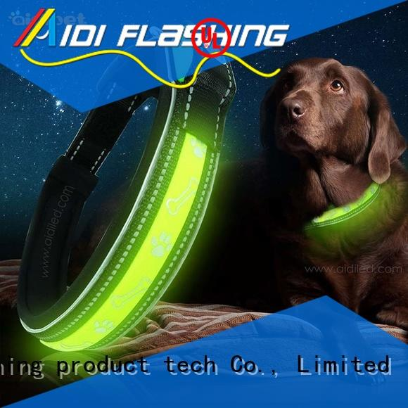 AIDI silicone small led dog collar personalized for park