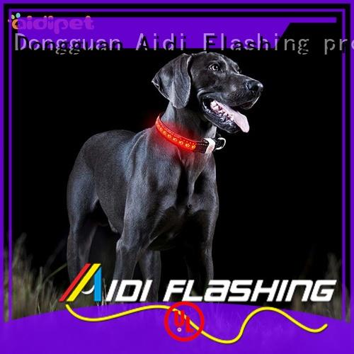 AIDI-C14 Personalized Rechargeable Flashing Led Dog Collar