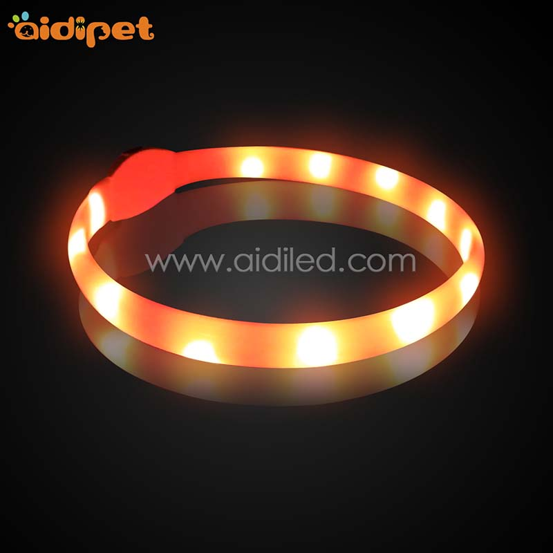 AIDI-AIDI-C4 Silicone Waterproof Rechargeable Flashing Led Dog Collar-2
