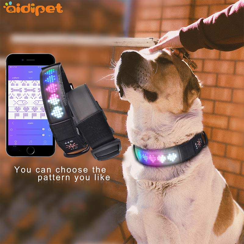 - Led App Controlled Safety Dog Collars Aidi-c25-8