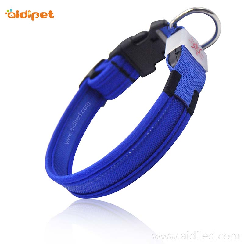 AIDI-Best Best Light Up Dog Collar Nylon Reflective Rechargeable Led Dog Collar