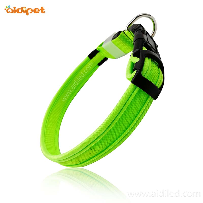AIDI-Professional Light Up Dog Collar Rechargeable Small Led Dog Collar Manufacture