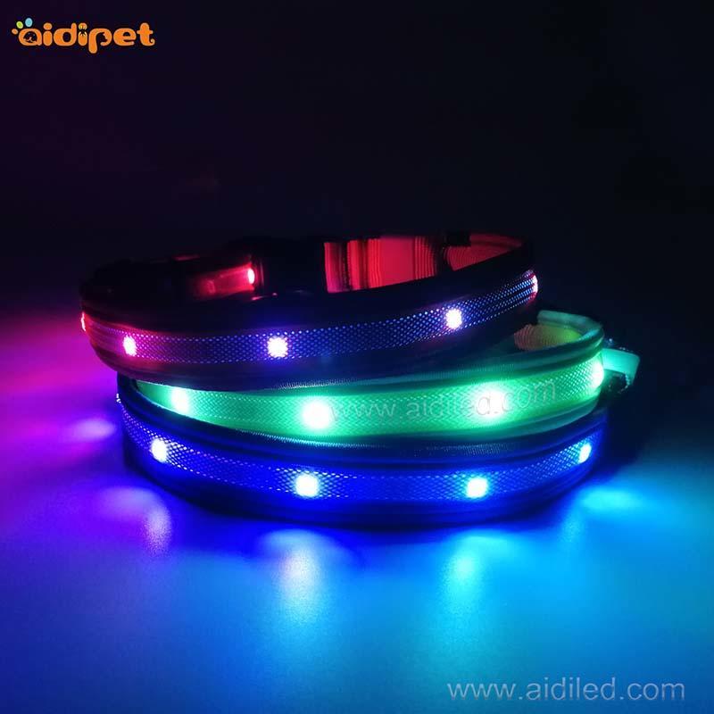 AIDI-C27 Colorful Dog Collar Led Flashing Light