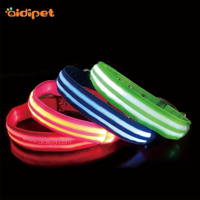 AIDI-C16 Custom Super Bright LED Light Up Dog Collar