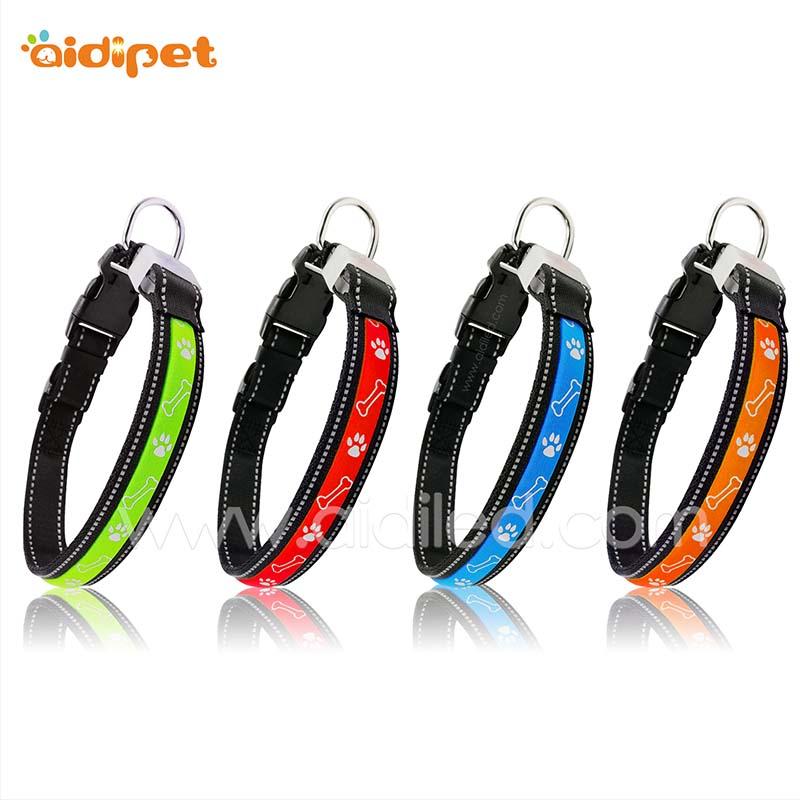 AIDI printing rechargeable flashing dog collars factory for walking-AIDI-img-1
