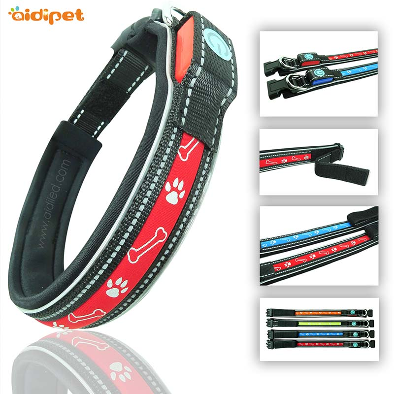 AIDI-lite up dog collars | Led dog collars | AIDI-1