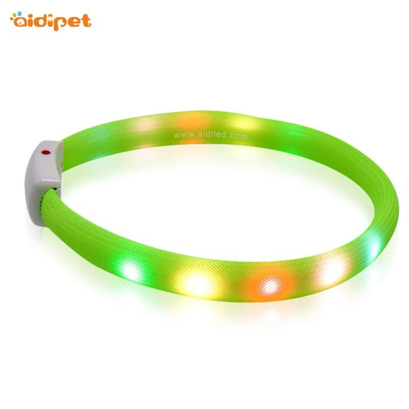 Nylon Fish Filament Rechargeable Led Night Dog Collar
