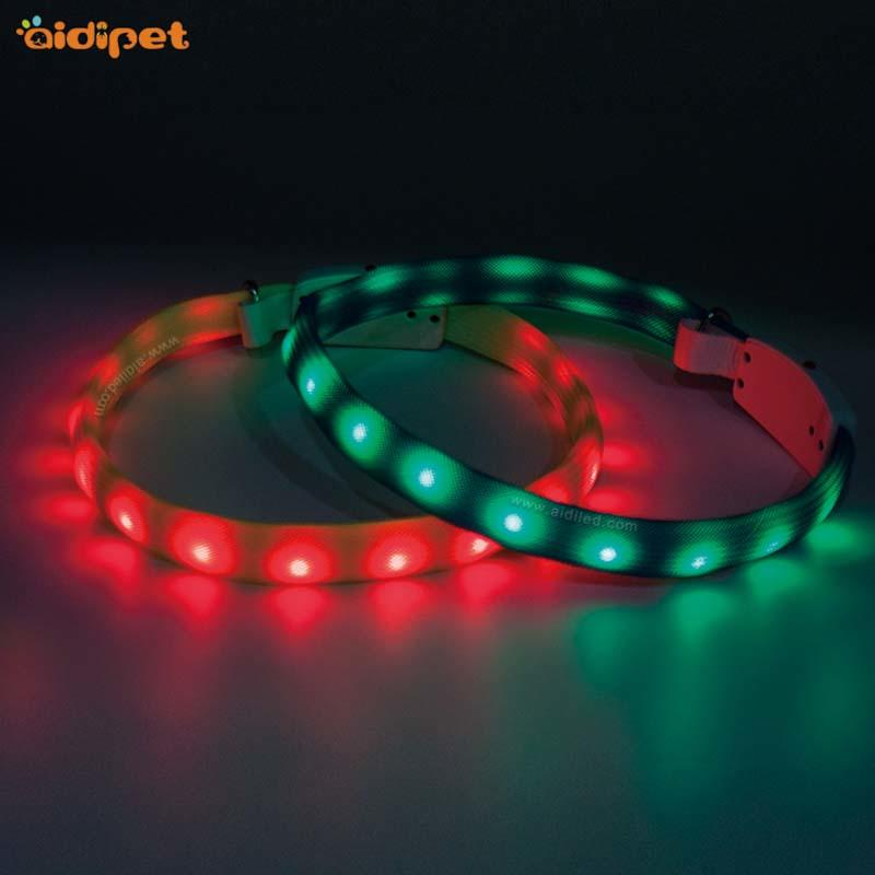 led RGB durable flashing dog collar light AIDI-C7S