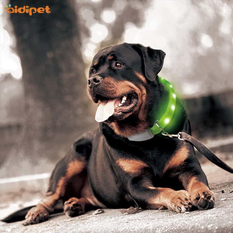 AIDI rechargeable flashing dog collars factory for park