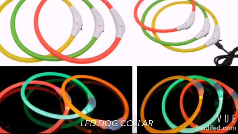 AIDI-C1 luminescent dog collar video