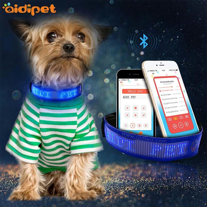 light at colorful bright light up dog collar AIDI