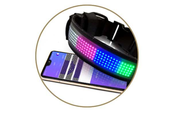 collarworld charms reflective AIDI Brand light up dog collar