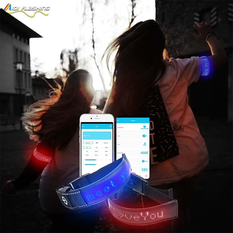 Led APP Controlled Safety Armband