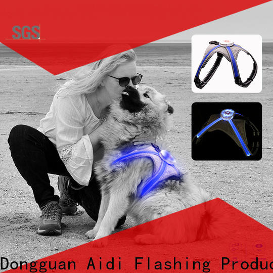 soft dog harness with led lights from China for street