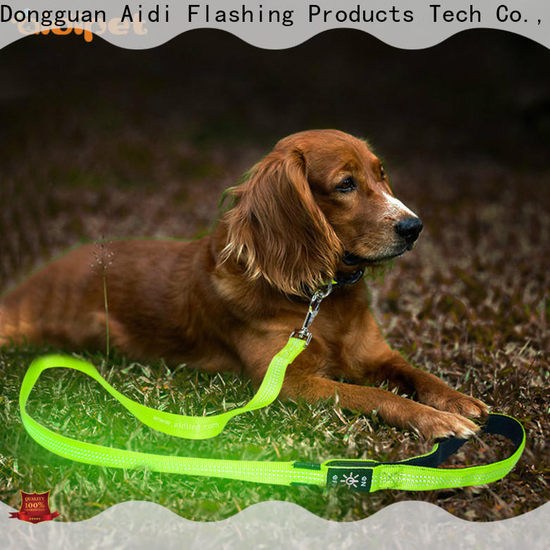 AIDI flat led light dog leash factory for park
