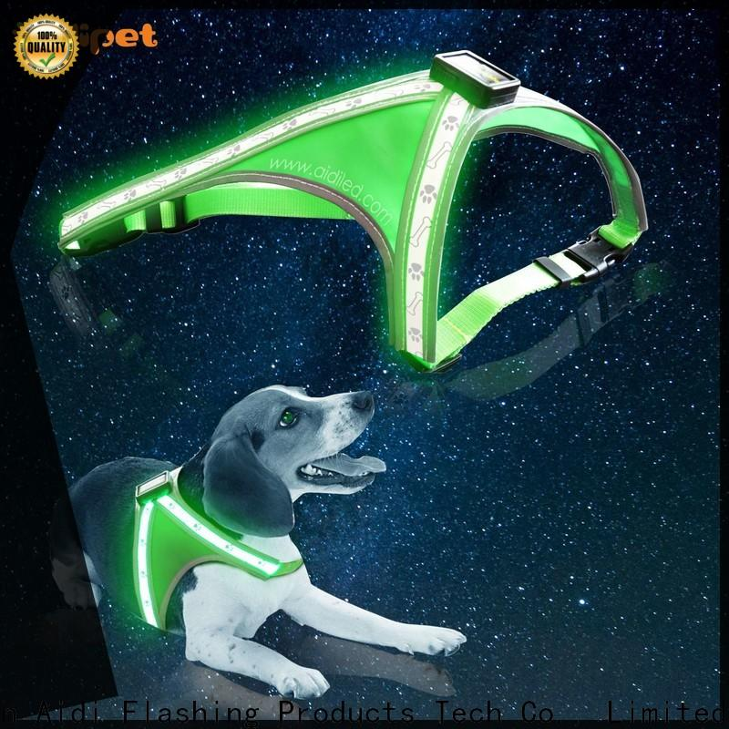 AIDI glow in the dark dog harness manufacturer for park
