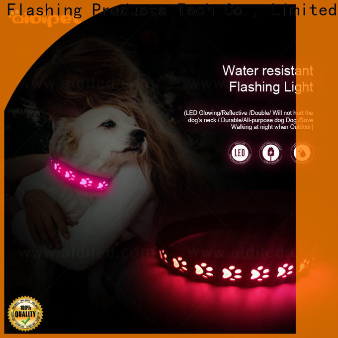 AIDI durable led collar light factory for walking