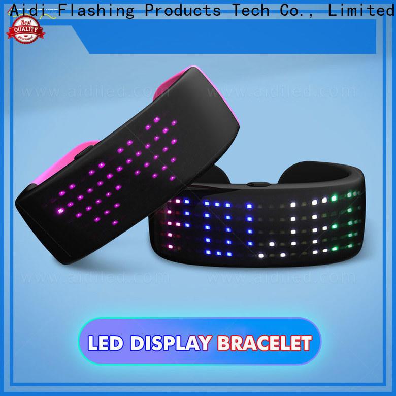 AIDI blue led slap wrap bracelet factory for woman