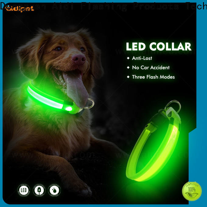 AIDI printing dog collar safety light inquire now for pet