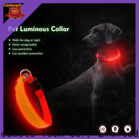 AIDI durable led light up dog collar inquire now for park