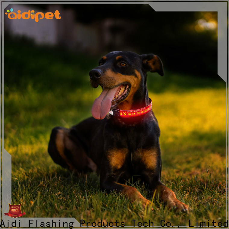 AIDI dog collar lights waterproof design for outdoors