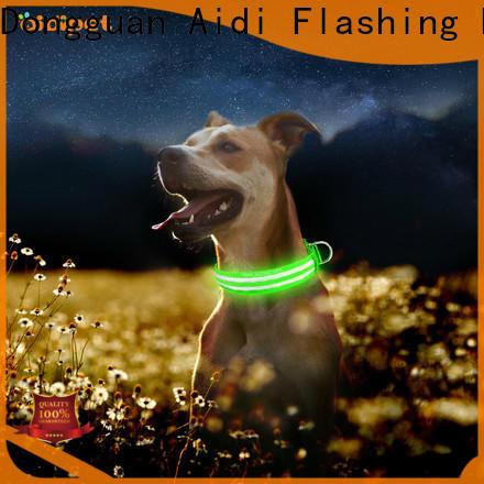 flashing led light dog collar design for outdoors