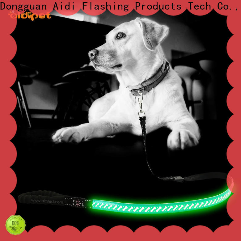 AIDI flat lighted dog leash with good price for pet