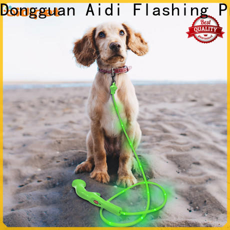 illuminated dog leash with flashlight factory for park