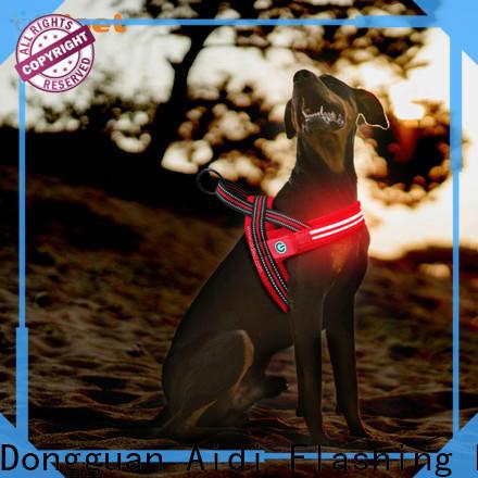 flashing flashing dog harness customized for pet
