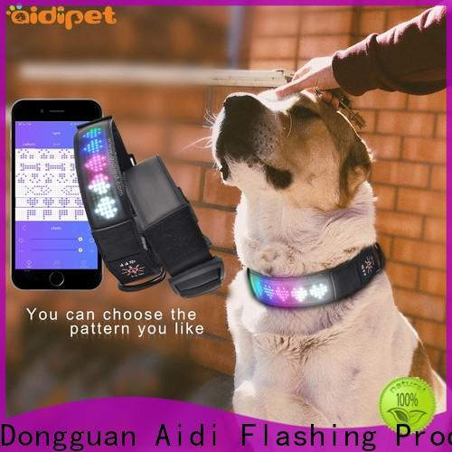 AIDI remote rechargeable dog collar light with good price for park