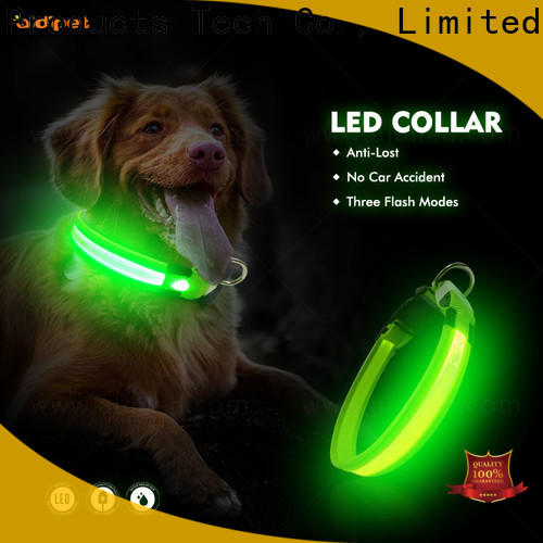 silicone dog collar led flashing light design for walking