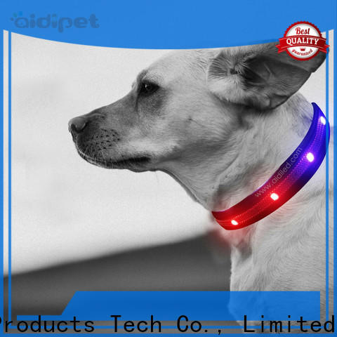 AIDI waterproof light up dog collar design for park