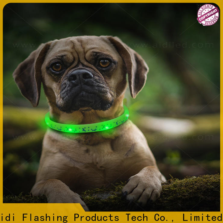 nylon best glow in the dark dog collar design for park