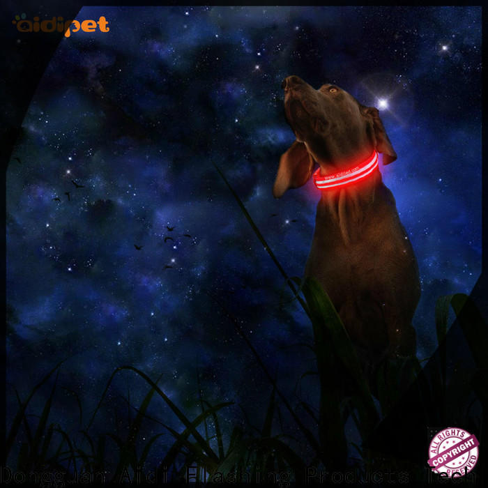 AIDI best dog collar light design for pet
