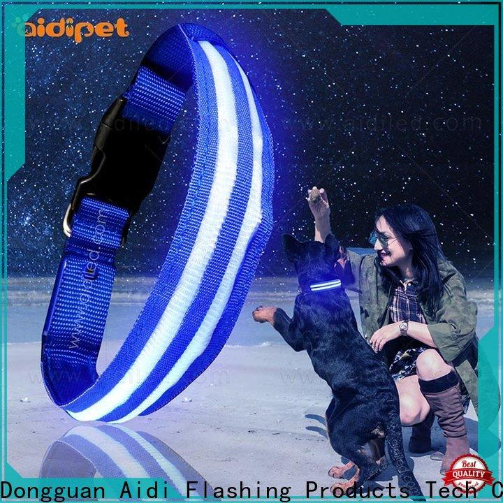 filament dog collar led flashing light design for outdoors