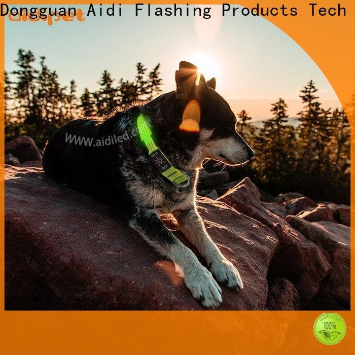 AIDI led light up dog collar design for park