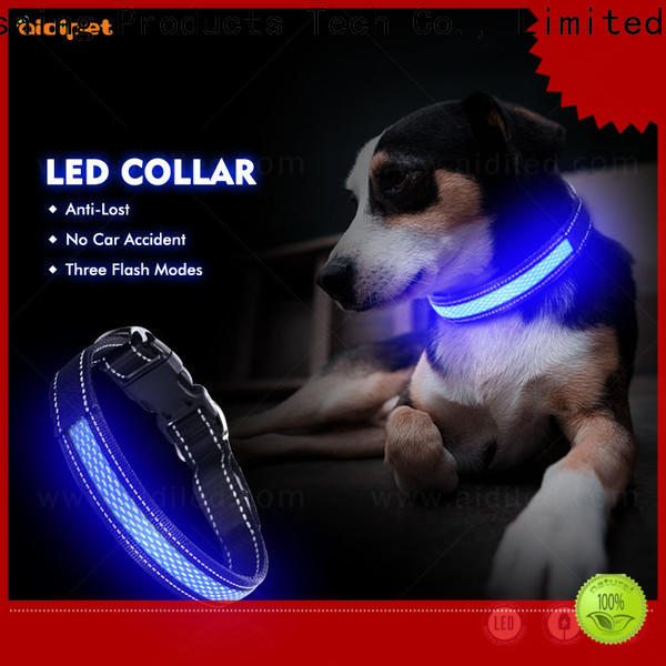 AIDI reflective pet collar led lights design for outdoors
