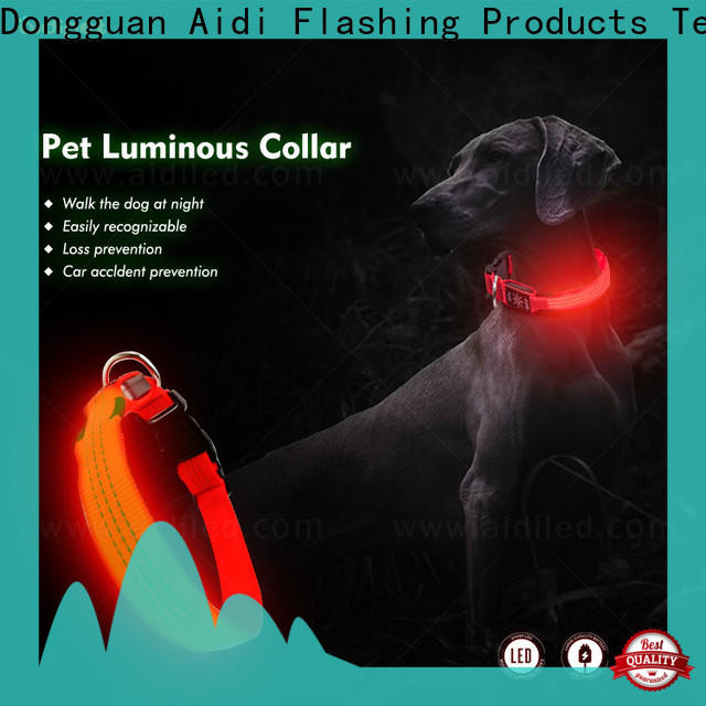rechargeable glow in the dark dog collar factory for park