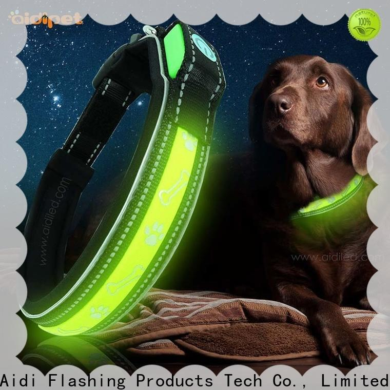 AIDI light up dog collar with good price for pet