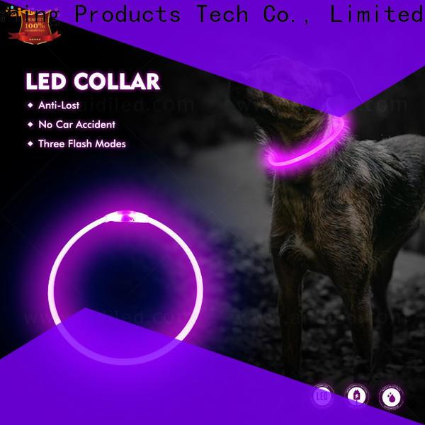 AIDI glow in the dark dog collar design for outdoors