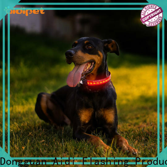 reflective nite lite dog collars design for park