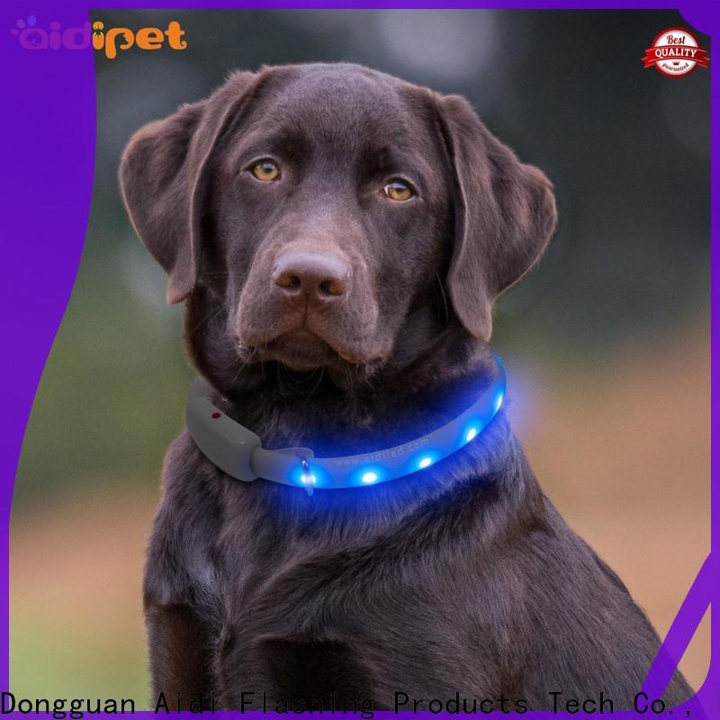 glowing best led dog collar factory for walking