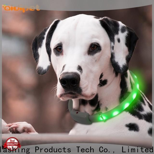 AIDI reflective luminous dog collar factory for park