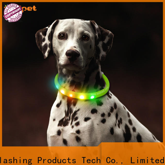 AIDI reflective lighted pet collars inquire now for walking