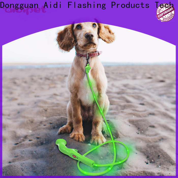 AIDI fishnet lighted dog leash with good price for park