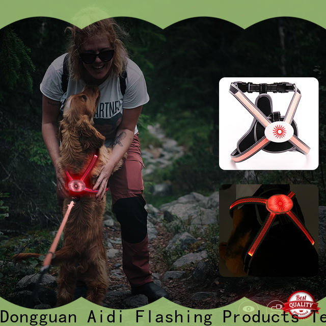 AIDI soft glow in the dark dog harness series for pet