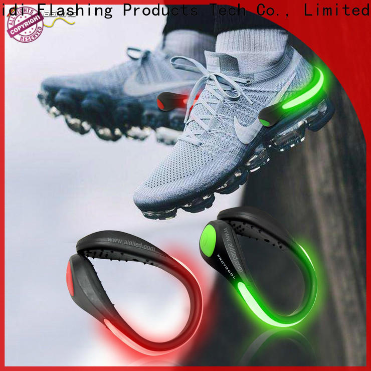 AIDI adjustable night runner led shoe clip factory for outdoors