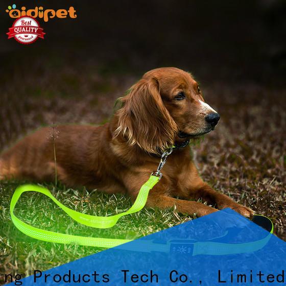 reflective led light dog leash design for walking