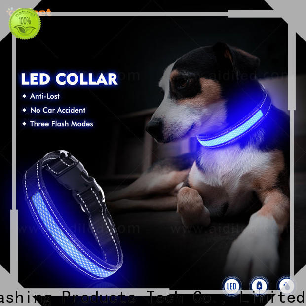 AIDI illuminated dog collar with good price for walking
